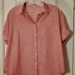 Madewell - Red tie front shirt - M